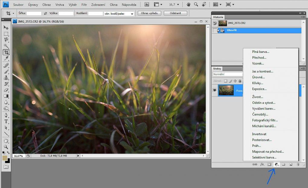 Práce s vrstvami ve photoshopu